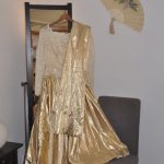 Goldenes Ballkleid